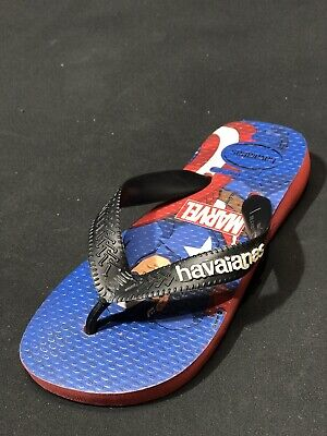 Havaianas Youth Top Marvel Avengers  Iron Man Flip Flip Sanda Size 2 Y// 31-32 BR