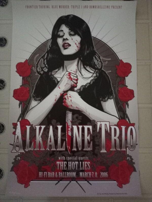 ALKALINE TRIO Tour Poster #ed of 500 - Gothic Artwork - Matt Skiba - Blink 182