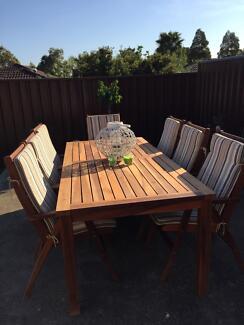 Timber Outdoor Setting Leumeah Campbelltown Area Preview