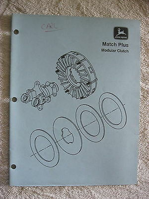 1996 JOHN DEERE MATCH PLUS MODULAR CLUTCH PART NUMBER GUIDE MANUAL