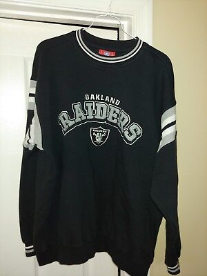 Oakland Raiders NFL Crewneck Sweatshirt Size L, official NFL gear, embroidered for sale  Falling Waters