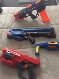 Four Nerf guns for sale