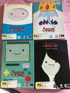 Adventure Time Seasons 1-4 DVDs