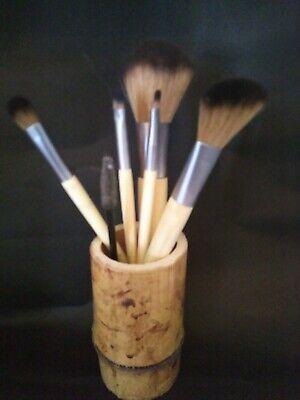 Vintage Bamboo Brush Pot Handmade from vintage bamboo make up paint brush