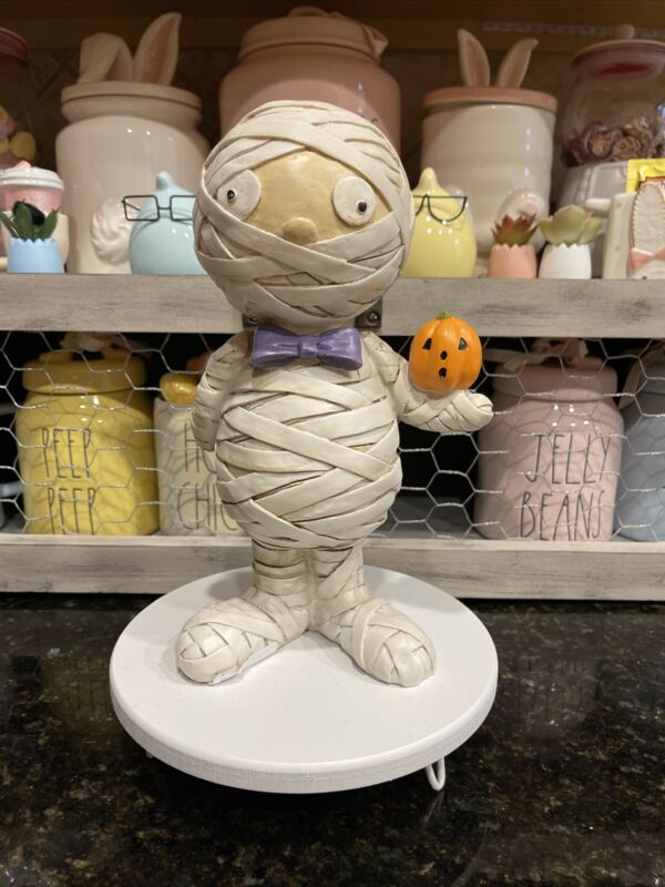 Gus The Mummy Figure For Halloween Or Rae Dunn Decor HTF