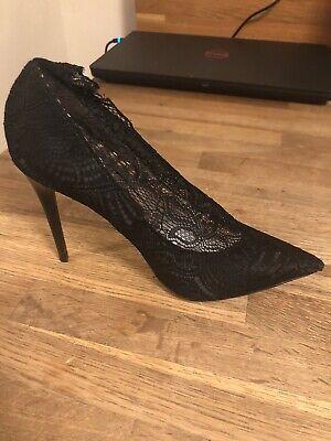 Zara Collection Black Lace High Heel Shoes Sz 36 US 6 NWB