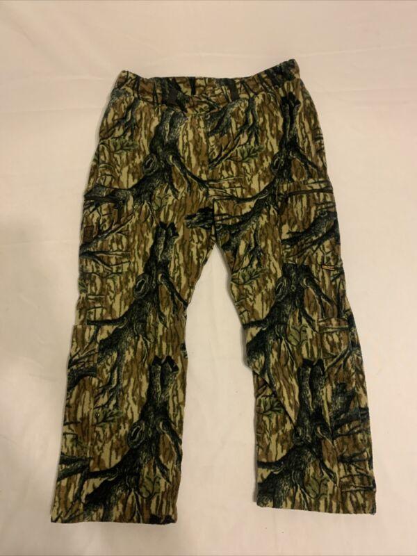 Browning Gore-Tex Hunting Pants XL Camo Waterproof Hydro Fleece Lined Winter EUC