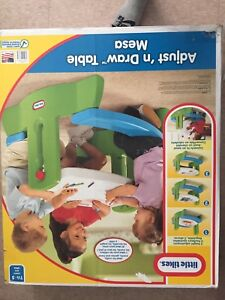 Adjust and draw picnic table little tikes