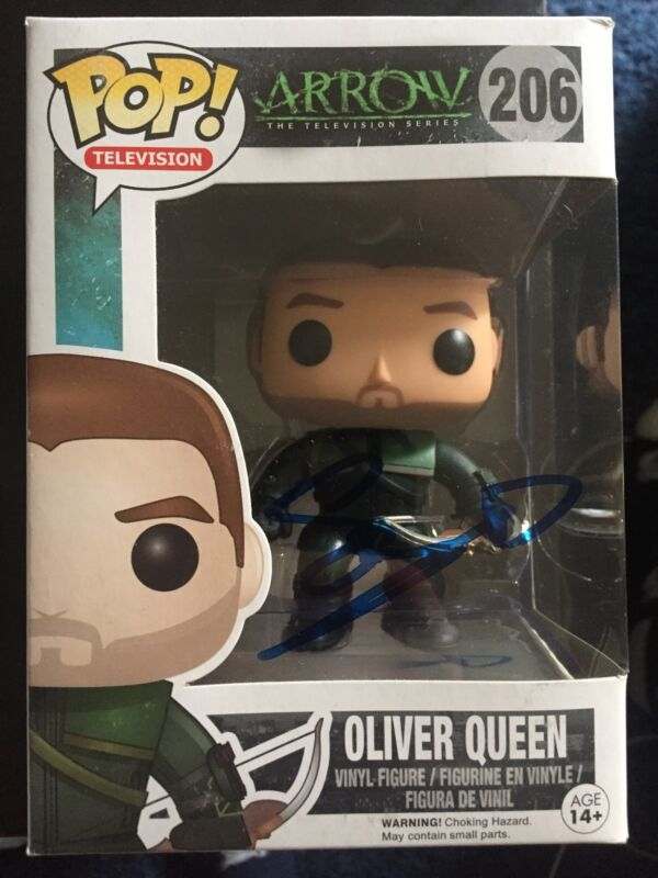 Funko Pop CW Oliver Queen Stephen Amell Autographed Signed Action Figure COA R