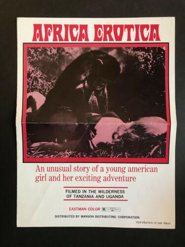 1970 AFRICA EROTICA SEXPLOITATION FRONTAL NUDITY MOVIE 4 PAGE PRESSBOOK ORIGINAL