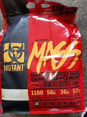 Mutant Mass Weight Gainer Protein Powder High Calorie 15 Lbs Vanilla Ice Cream High Protein Gainer