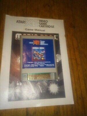 Atari Mario Bros 400/800/XL/XE/XEGS/Computer game with Manual see pics TESTED