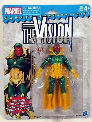 "Marvel Legends 2018 Vintage Retro Style 6"" THE VISION Wave 2 Action Figure MOC"