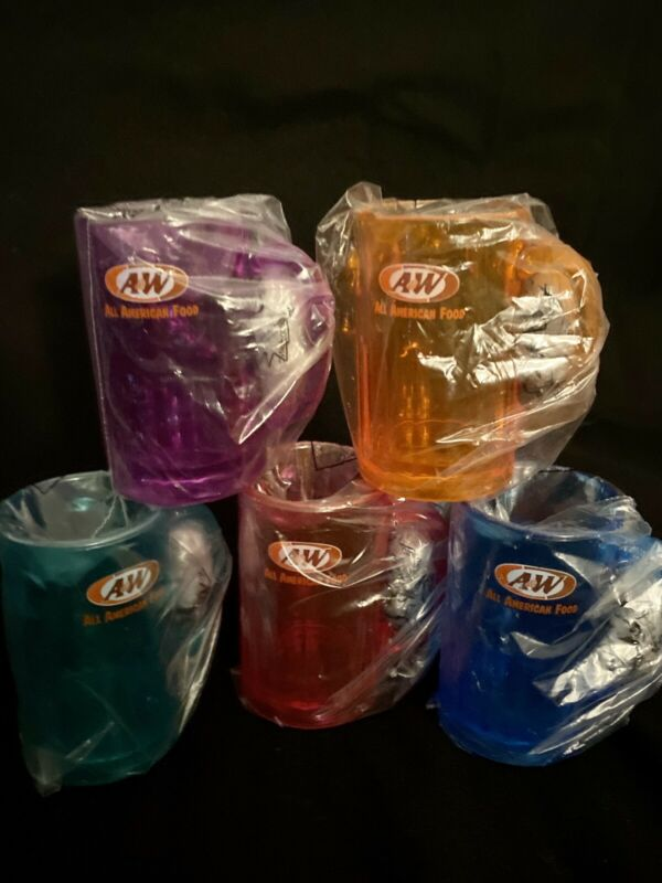 A&W Rootbeer Collector's Mini Mugs- Set Of 5 (From 2002)