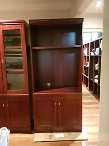 Set OF THREE CABINETS BOOKSHELVES MAHOGANY Point Arkwright Maroochydore Area Preview