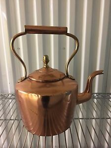 Antique 19th century copper tea kettle