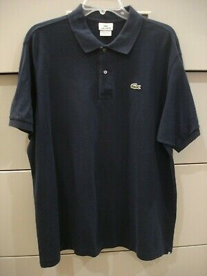 Men's Lacoste Navy Short Sleeve Polo Shirt Size 7 Chest 50 X 29.5