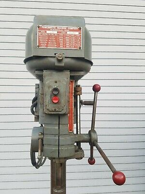 Powermatic Drill Press Model 1150 Table Mount 6-speed With Vise Bits Etc.