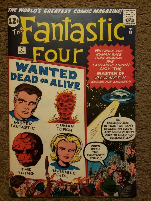 Fantastic Four 7 Custom Made REPLICA Cover with VINTAGE REPRINT