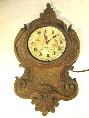 Vintage Old Charter Kentucky Bourbon Whiskey Advertising Clock, Parts / Repair