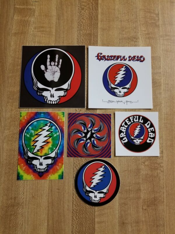 6 Steal Your Face Grateful Dead Stickers.