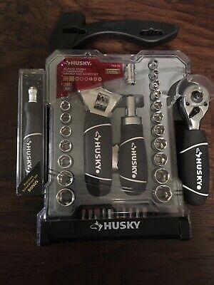 Husky Stubby Wrench and Socket Set (46-Piece) With BONUS Kit