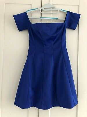 Kendal + Kylie Off the Shoulder Womens Dress - Blue Size XSmall BNwithoutTags