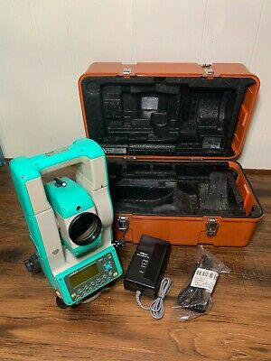 Nikon Dtm-530 Survey Surveying Total Station With Battery Charger And Hard Case