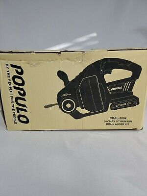 Populo Electric Drain Auger25ft Plumbing Snake Drain Clog Remover Tools