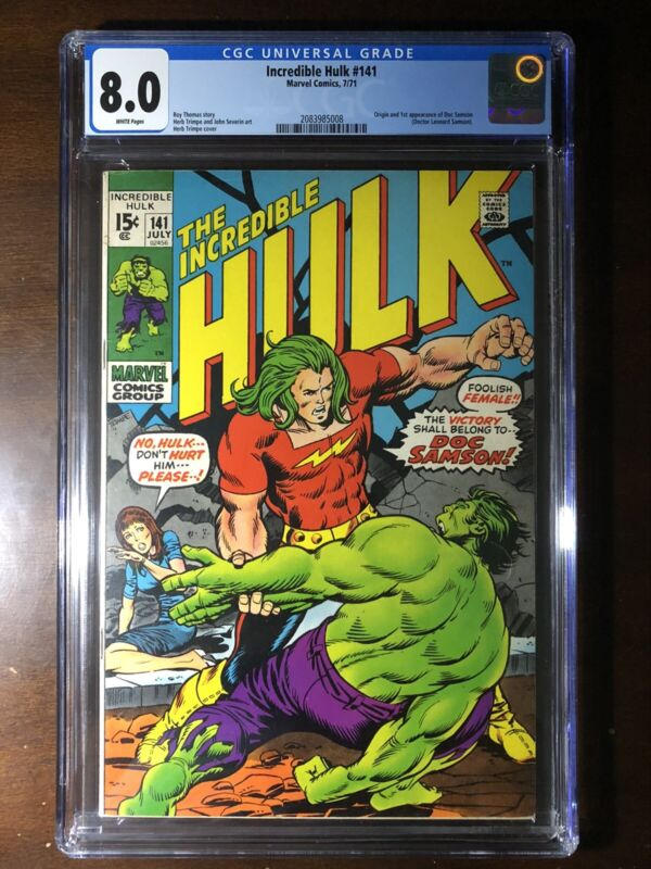 Incredible Hulk #141 (1971) - 1st Doc Samson! - CGC 8.0!! - Key!!!
