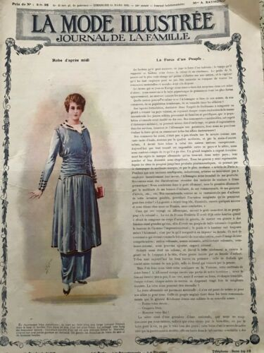 MODE ILLUSTREE SEWING PATTERN March 14,1915 - Blouses, skirts
