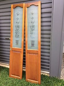 Timber bifold doors with glass panels North Toowoomba Toowoomba City Preview