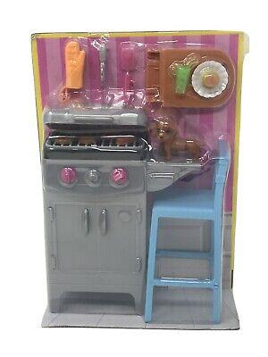 Barbie BBQ Grill Furniture & Accessory Set DVX48 NEW DMG BOX