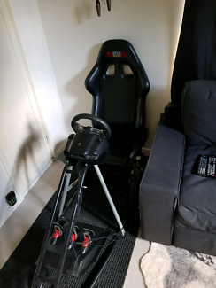 Gaming cockpit racing chair equipped with Logitech G27