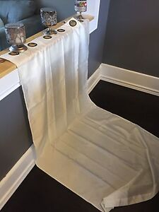 White long curtain panels x 2