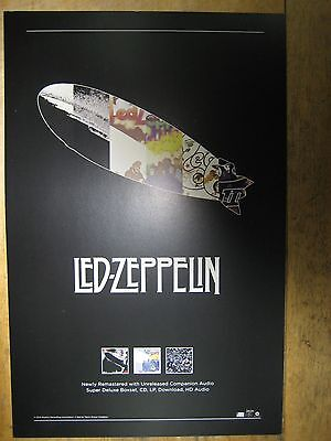 Led Zeppelin (2015 JIMMY PAGE REMASTERED) [OFFICIAL] promotional POSTER NEW