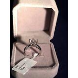 2 CT DIAMOND ENGAGEMENT Bridal RING 14K WHITE GOLD TONED Women's