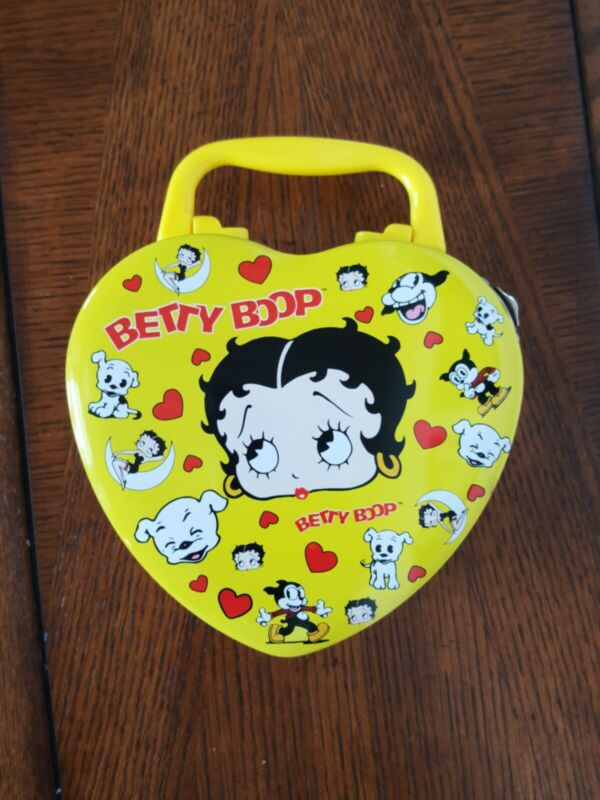 Betty Boop Tin Box- Heart Shaped