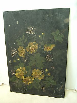 ANTIQUE VICTORIAN OIL PAINTING ON TIN VERY NICELY DONE
