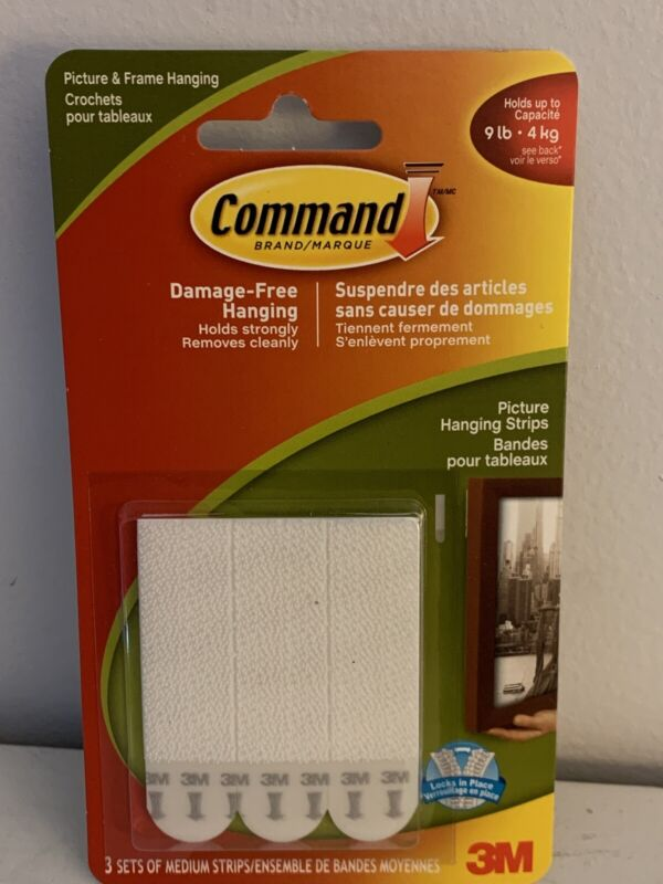 Command Strips Picture And Framing Hanging Strips 3 Sets / Pk