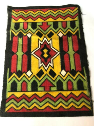 Antique Cigar Tobacco Flannel Felt Southwest Pattern New Unsewn