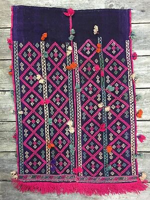 Moroccan Style Hand Woven Art Tapestry Wall Hanging & Tassels Wool (Woven Wall Fashion)