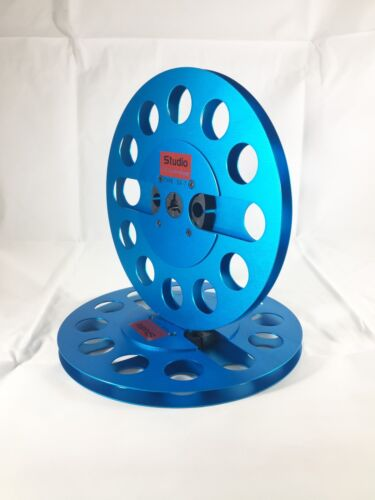 """ONE PAIR   New  7"""" Anodized Aluminum  metal Reel to Reels  Blue"""