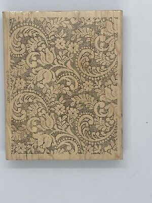 STAMPIN' UP X-LARGE LACE BACKGROUND MOUNTED RUBBER STAMP Background Mounted Rubber Stamp