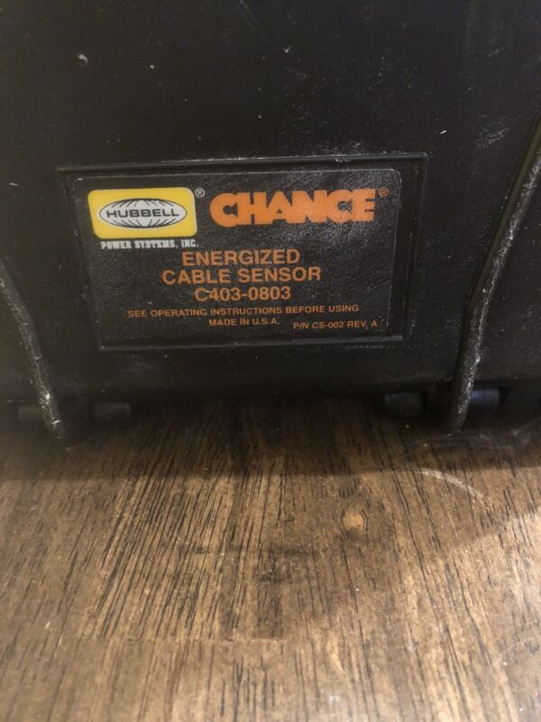 hubbell chance Energized Cable Sensor