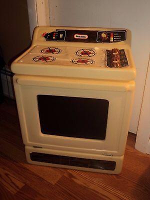 Vintage Little Tikes Child Size Furniture Appliance Range Stove Pretend Rare toy