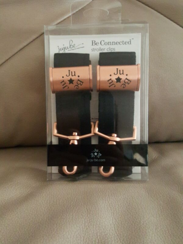 Ju-Ju-Be Legacy Be Connected Stroller Clips in Rose Gold NEW!