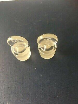 Kimble Glass Stopper Pennyhead Size 27 - Set Of 2