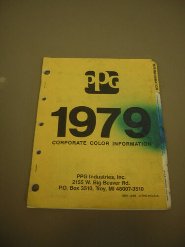 PPG Color Chip Carts 1979 Domestic Cars Chrysler, Ford, GM