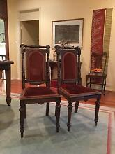Set of 4 French carved oak dining chairs Drummoyne Canada Bay Area Preview